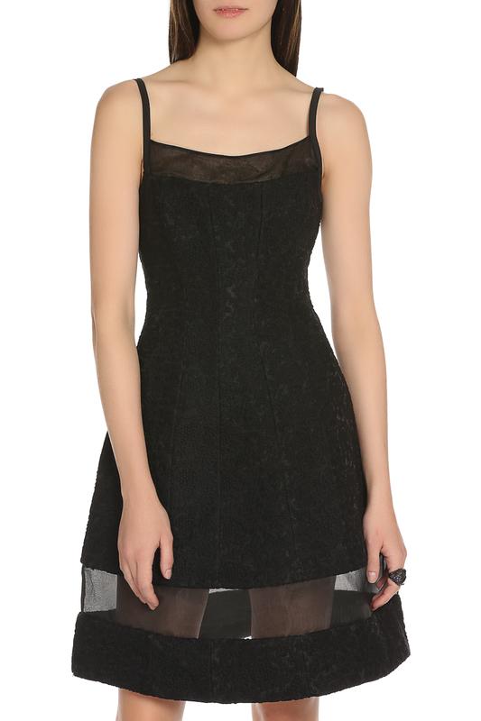 Короткое платье без рукавов с вставкой из сетки Isabel Garcia