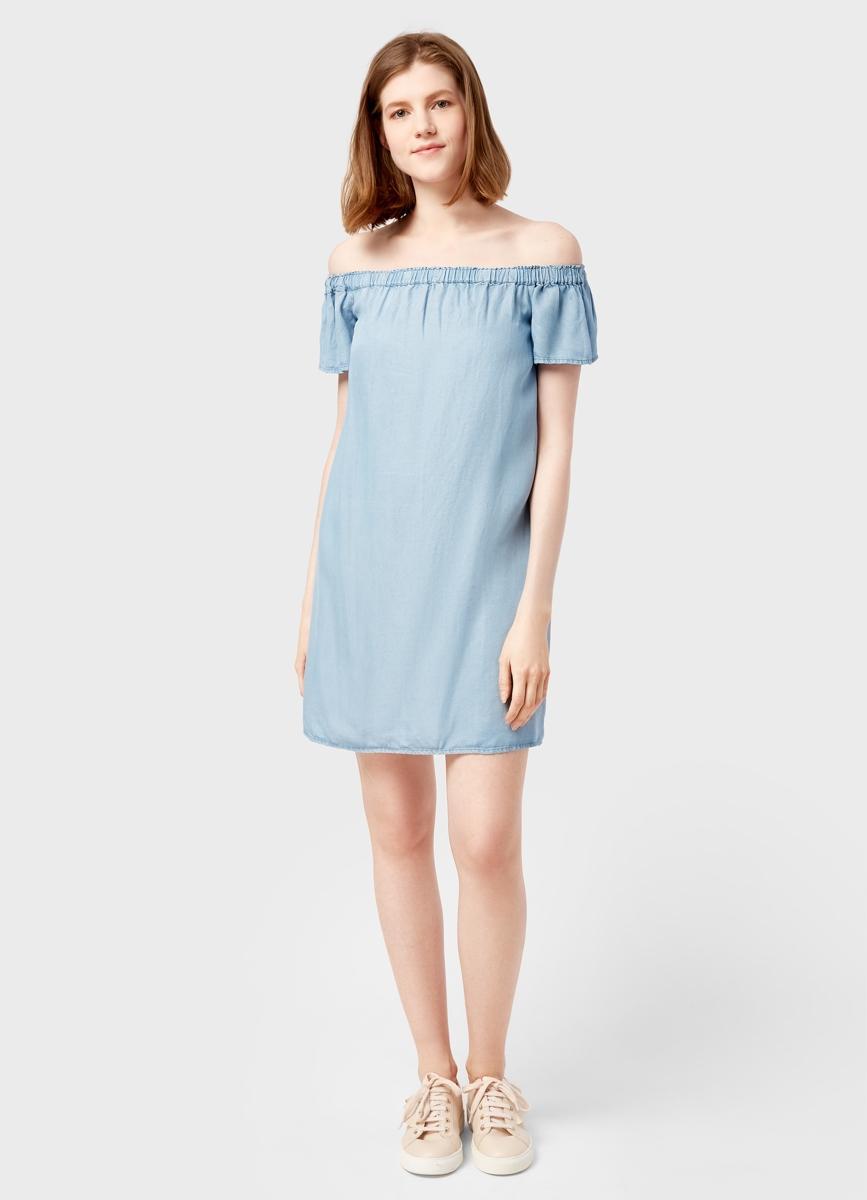Платье с открытыми плечами 2