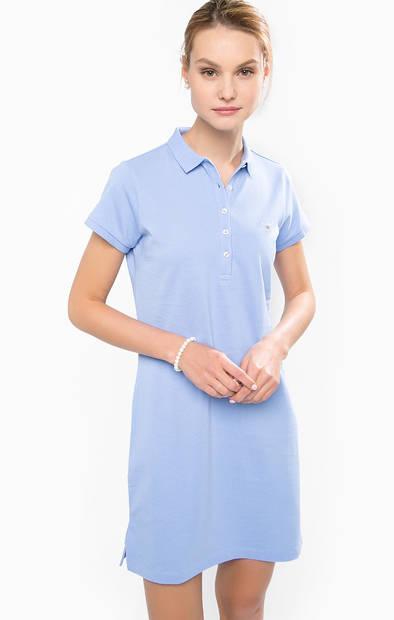 Платье-футболка с отложным воротником
