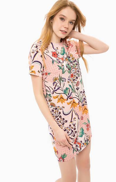 Короткое платье с молнией на спине